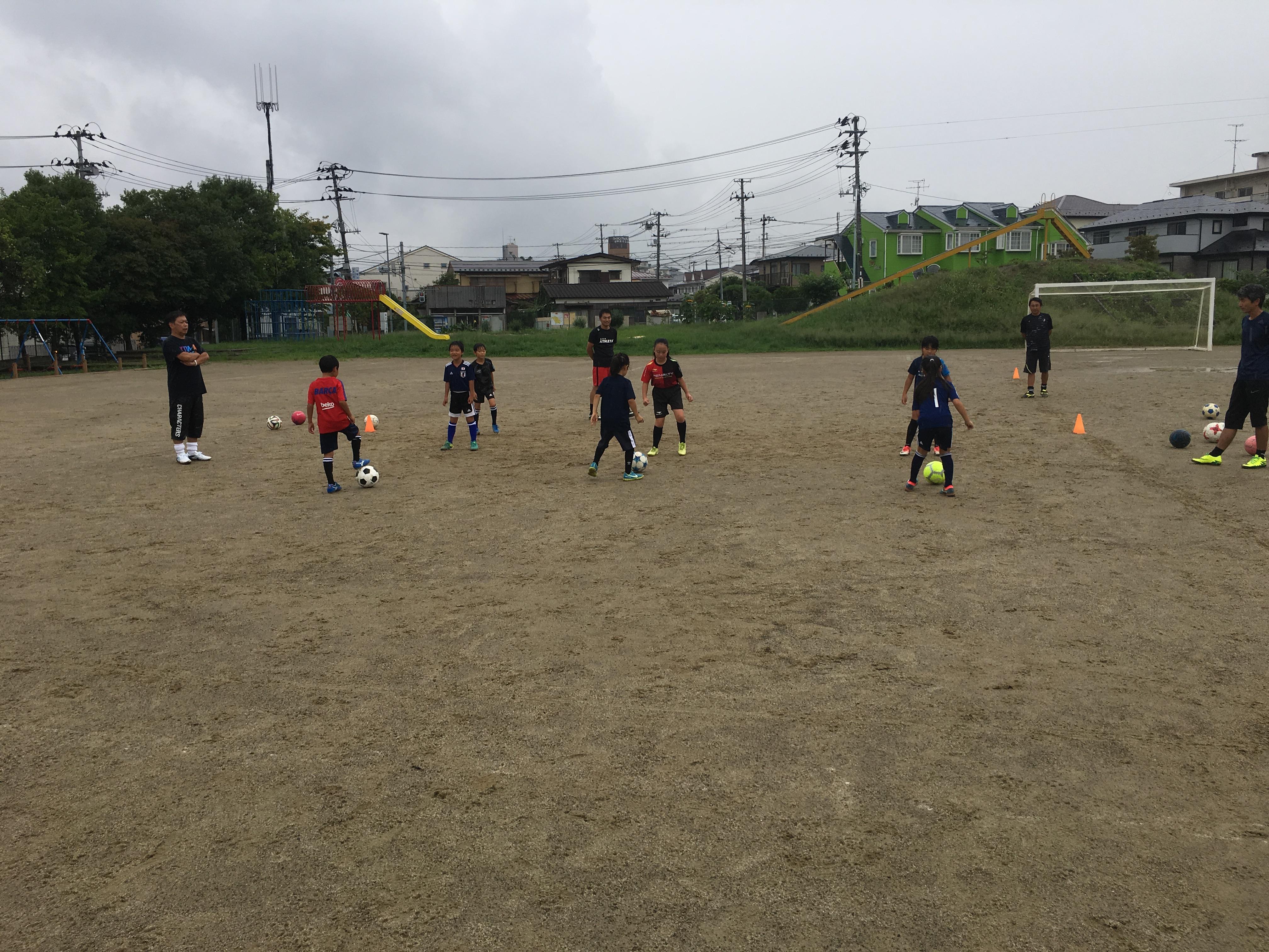 【9/1(土) 台原小学校の練習】今日も雨でした。