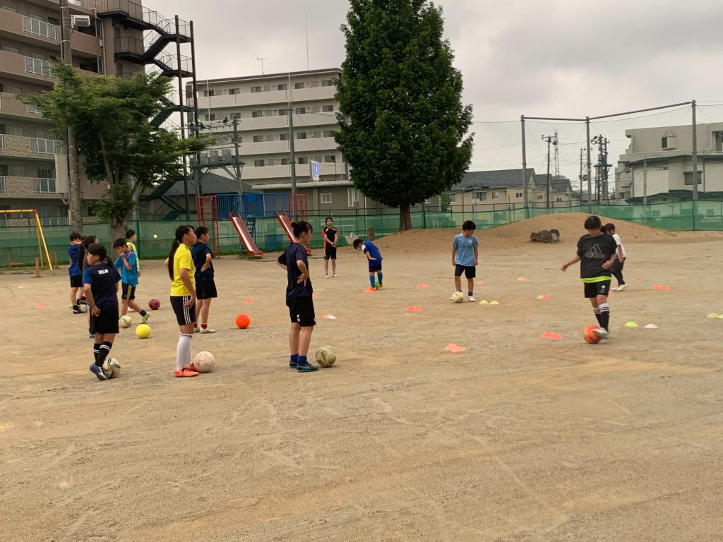 7月22日(木)新田小学校の練習